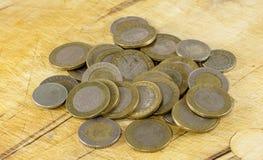 Monedas turcas de la lira Imagen de archivo libre de regalías