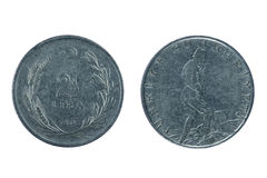 Monedas turcas viejas Fotos de archivo