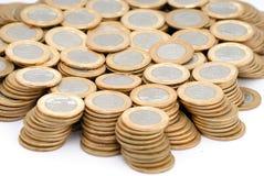 Monedas verdaderas Imagen de archivo libre de regalías
