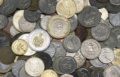 Monedas viejas Fotos de archivo libres de regalías