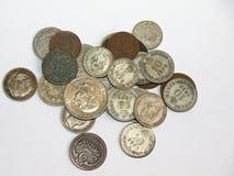 Monedas viejas Fotografía de archivo
