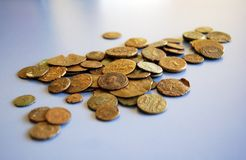 Monedas viejas Imagenes de archivo