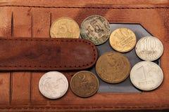 Monedas viejas de Europa Imagen de archivo libre de regalías