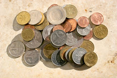 Monedas viejas de la marca alemana Imagenes de archivo