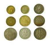 Monedas viejas del metal Foto de archivo libre de regalías