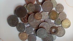 Monedas viejas indias fotos de archivo libres de regalías