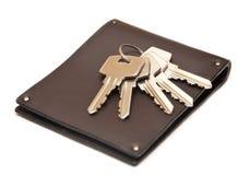 Monedero con claves Imagen de archivo libre de regalías