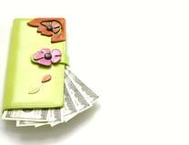 Monedero con el dinero Fotografía de archivo libre de regalías