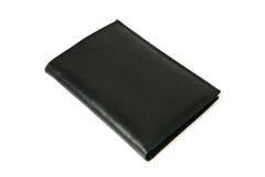 Monedero de cuero negro Imagen de archivo
