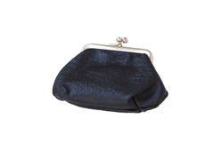 Monedero de cuero negro Foto de archivo libre de regalías