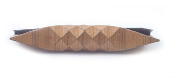 Monedero de madera del vintage, bolso cosmético Imagen de archivo