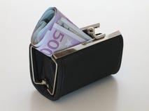Monedero del dinero imagenes de archivo