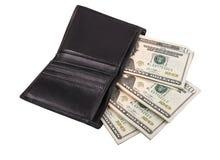 Monedero del ` s de los hombres con el dinero fotos de archivo libres de regalías