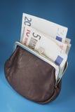 Monedero euro Foto de archivo libre de regalías