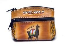 Monedero hecho a mano Perú del cambio Foto de archivo libre de regalías