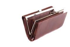 Monedero marrón de cuero Imagen de archivo