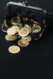 Monedero negro Fotos de archivo