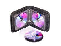 Monedero para DVD y los discos CD Fotos de archivo
