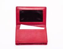Monedero rojo Fotos de archivo libres de regalías
