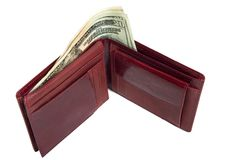Monedero rojo Imagen de archivo libre de regalías