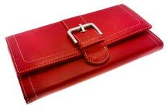 Monedero rojo Fotos de archivo