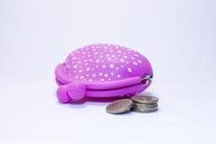 Monedero rosado Foto de archivo libre de regalías