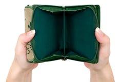 Monedero vacío Foto de archivo libre de regalías
