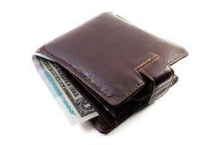 Monedero y dinero imagenes de archivo