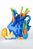 Monedero, zapatos y joyería azules Fotografía de archivo libre de regalías