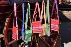 Monederos de la tela para la venta Fotografía de archivo libre de regalías