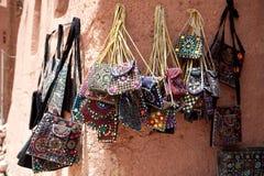 Monederos modelados orientales bordados, Irán Imagen de archivo libre de regalías