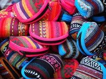 Monederos tribales de la tela Fotos de archivo