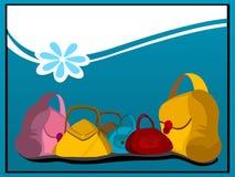 Monederos y flor en curva Foto de archivo libre de regalías