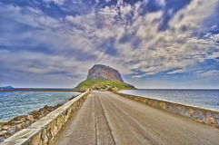 Monemvasia. Island of Monemvasia in Greece stock photo