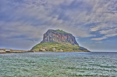 Monemvasia. Island of Monemvasia in Greece stock photography