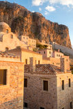 Monemvasia castle town in Lakonia, Greece Royalty Free Stock Photos
