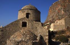 Monemvasia church in Greece stock photography