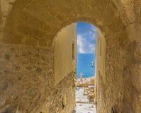 Monemvasia Grekland Fotografering för Bildbyråer
