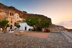 Monemvasia in Griekenland Royalty-vrije Stock Afbeelding