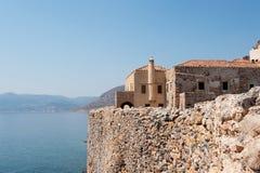 Monemvasia no Peloponnese grego Imagens de Stock