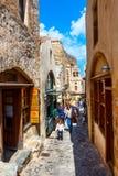 Monemvasia street view in Peloponnese, Greece stock photos