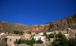 Monemvasia village in Greece royalty free stock photos