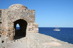 Monemvassia - peloponnese - greece Royalty Free Stock Photos
