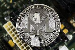 Monero è un modo moderno dello scambio e di questa valuta cripto immagini stock