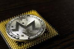 Monero è un modo moderno dello scambio e di questa valuta cripto fotografie stock