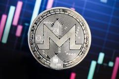 Monero é uma maneira moderna de troca e desta moeda cripto fotografia de stock royalty free