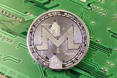 Monero современный путь обмена и этой секретной валюты Стоковая Фотография RF