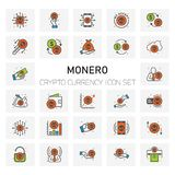 MONERO Coin Crypto Currency icons set. For web design and application interface, also useful for infographics. Vector illustration Royalty Free Stock Image
