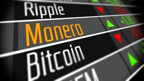 Monero Crypto valutamarknad vektor illustrationer
