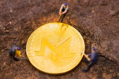 Monero mining pool on your devices with our dedicated mining software. stock image